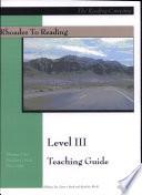 Rhoades to Reading Level III Teaching Guide