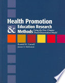 Health Promotion and Education Research Methods