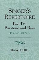 Singer's Repertoire, Part IV