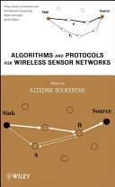 Algorithms and Protocols for Wireless Sensor Networks Book