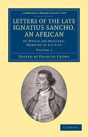 Letters of the Late Ignatius Sancho  an African