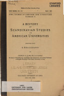 A History of Scandinavian Studies in American Universities