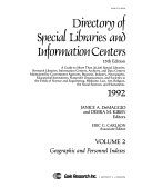 Directory of Special Libraries