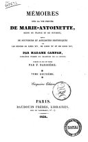 Memoires Sur la Vie Privee de Marie-Antoinette