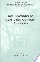 Applications Of Computer Content Analysis Book PDF
