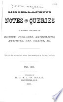 Historic Magazine and Notes and Queries Book