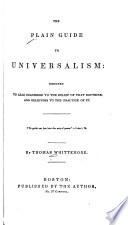 The Plain Guide to Universalism Book PDF