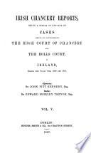 Irish Chancery Reports Book