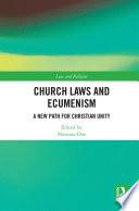 Church Laws and Ecumenism