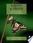 Equity Trusts Text Cases And Materials