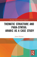 Thematic Structure and Para-Syntax: Arabic as a Case Study Pdf/ePub eBook