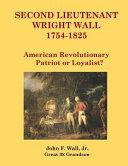 Second Lieutenant Wright Wall