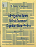 Michigan Plan For The Federal Documents Depository Library System