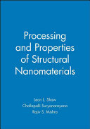 Processing And Properties Of Structural Nanomaterials Book PDF