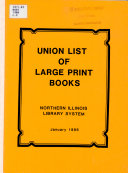 Union List Of Large Print Books