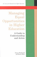 Managing equal opportunities in higher education