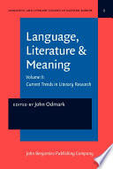Language Literature Meaning Current Trends In Literary Research