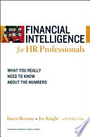 Financial Intelligence For Hr Professionals Book PDF