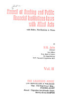 Manual of Banking and Public Financial Institutions Laws  with Allied Acts