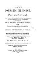 Gunn s Domestic Medicine  Or Poor Man s Friend
