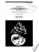 Inventory of Federal Energy related Environment and Safety Research for     Book