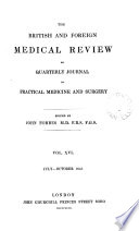 THE BRITISH AND FOREIGN MEDICAL REVIEW OR QUARTERLY JOURNAL OF PRACTICAL MEDICINE AND SURGERY Book PDF