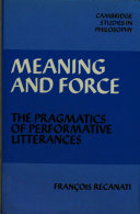 Meaning and Force