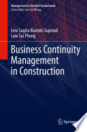 Business Continuity Management in Construction