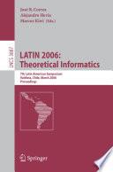 LATIN 2006  Theoretical Informatics