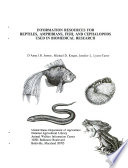 Information Resources for Reptiles  Amphibians  Fish  and Cephalopods Used in Biomedical Research Book