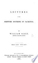 Lectures on the Scripture doctrine of Sacrifice