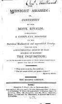 The Midnight Assassin; Or, Confession of the Monk Rinaldi