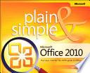 Microsoft Office 2010 Plain   Simple Book