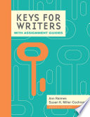 Keys for Writers with Assignment Guides  Spiral bound Version