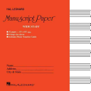 Wide Staff Manuscript Paper Red Cover