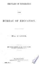 Circular of Information of the Bureau of Education  for
