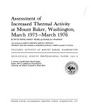 Assessment of Increased Thermal Activity at Mount Baker  Washington  March 1975 March 1976