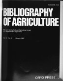 Bibliography of Agriculture Book