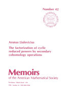 Pdf The Factorization of Cyclic Reduced Powers by Secondary Cohomology Operations