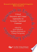 Critical Discourse and Corpus Approaches to Systemic Functional Grammar