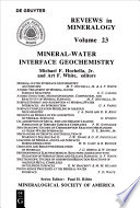 Mineral-Water Interface Geochemistry