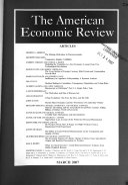 The American Economic Review Book PDF