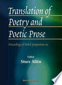 Translation Of Poetry And Poetic Prose
