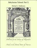 Babylonian Talmud: Part X