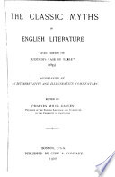 The Classic Myths In English Literature PDF