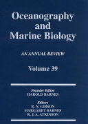 Oceanography and Marine Biology  An Annual Review  Volume 39 Book