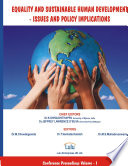 Equality and Sustainable Human Development - Issues and Policy Implications