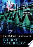 Oxford Handbook Of Internet Psychology Book PDF