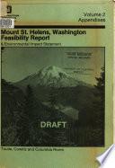 Mount St  Helens  Washington  Feasibility Report   Environmental Impact Statement