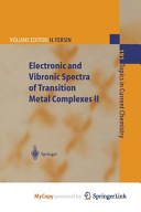 Electronic and Vibronic Spectra of Transition Metal Complexes II